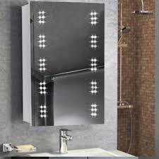 Bathroom Mirror With Clock Clock Led Illuminated Bathroom Mirror Cabinet With Sensor