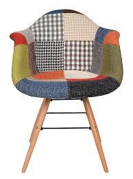Esszimmerst Le Bunt 1 X Design Klassiker Patchwork Sessel Retro 50er Jahre Barstuhl