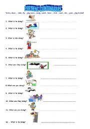 spanish present progressive worksheets free worksheets library