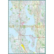 seattle map seattle washington map gm johnson maps