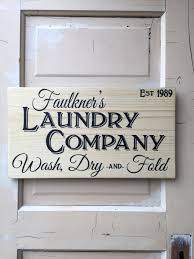 laundry sign personalized farm house laundry sign vintage rustic