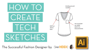 how to create technical flat sketches in illustrator youtube