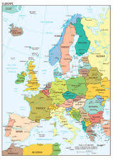 eurpoe map europe map poster ebay