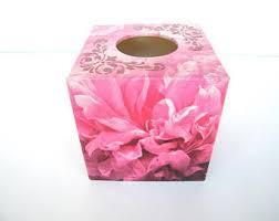 Tissue Holder Pink Tissue Box Etsy