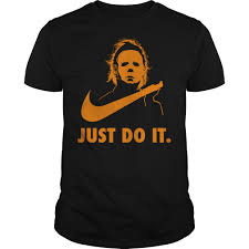 michael myers just do it v neck t shirt