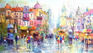 famous color paintings ideas leonid afremov oil on canvas