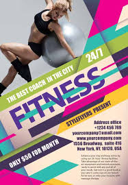 download the fitness gym free flyer template