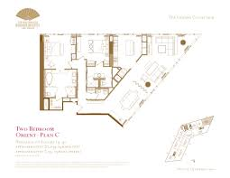 Two Bedroom Floor Plan by Two Bedroom Floor Plans The Mandarin Oriental Las Vegas The