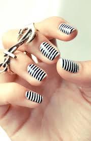 white stripes nail design blue and white stripe wedding nails