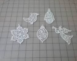 lace ornaments etsy