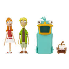 amazon com phineas and ferb figure pack assortment 3 candace and