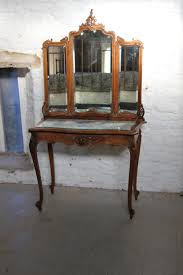 french louis xv style dressing table with three fold mirror