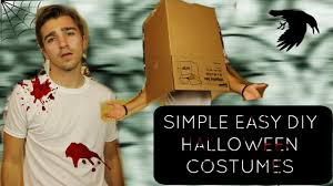Easy T Shirt Halloween Costumes by Simple Last Minute Halloween Costumes Boston Tom Youtube