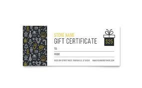 Gift Certificate Template Indesign gift certificate templates indesign illustrator publisher word