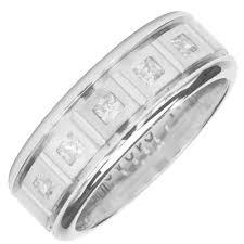 mens diamond wedding band mens diamond wedding band in 14kt white gold 3 8ct tw