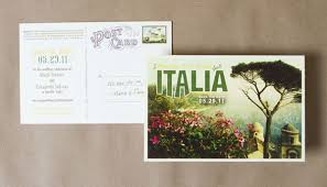 postcard save the dates save the date ideas 2 a travel theme chic