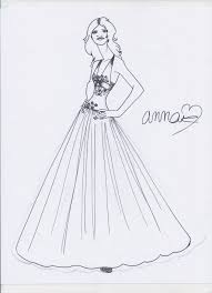 wedding dress sketch by designdiva7733 on deviantart