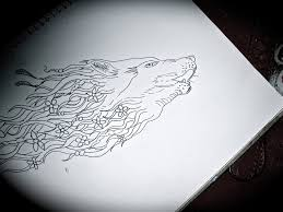 wolf outline by chelseacantpaint on deviantart
