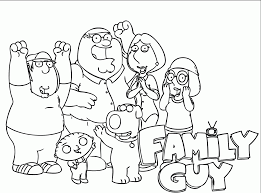 download cartoon family guy coloring pages or print cartoon family