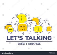 vector illustration yellow color dialog speech stock vector