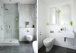 bathroom glass shower ideas modern white interior bathroom with concrete wall glass shower
