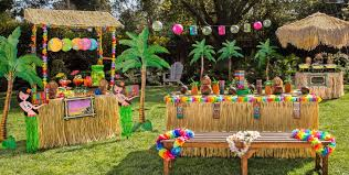 How To Make Tiki Hut Tiki Party Theme Party City