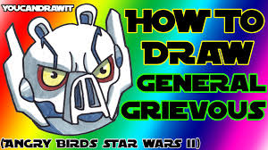 how to draw general grievous pig from angry birds star wars 2