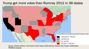 2012 Presidential Election Map by 2016 Vs 2012 How Trump U0027s Win And Clinton U0027s Votes Stack Up To