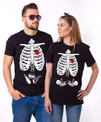 Maternity Skeleton Halloween Costumes by Maternity Twins Shirts Halloween Skeleton Shirts Matching Couples