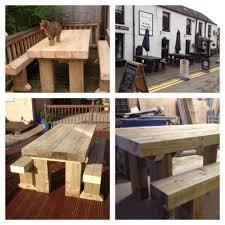 How To Make A Benchless Picnic Table by Garden Table And Bench Ebay
