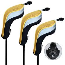 amazon com andux 3 pack andux golf hybrid club head covers