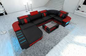sofa u design sectional sofa bellagio led u shape black ebay