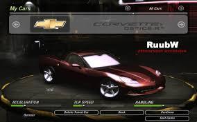 corvette c6 top speed need for speed 2 chevrolet corvette c6 c6r nfscars