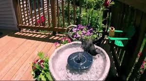 solar power bird bath fountain ipstyle solar panel water floating