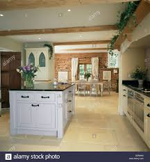 white island unit in openplan kitchen and dining room with