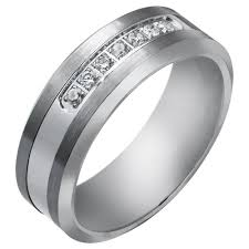 best mens wedding bands best selected white gold stony engagement wedding rings for mens