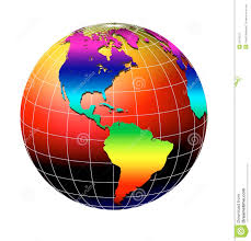 globe a earth globe with flags of countries royalty free stock photo