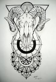 goat head snake tattoo