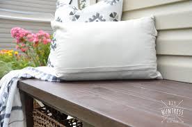 diy rustic x bench with shelf buildsomething com