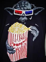 star wars l shade yoda star wars 3d shades theater popcorn t shirt size large