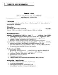 Example Of A Combination Resume by Combination Resume Definition Format Layout 117 Examples
