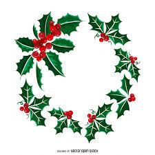 christmas mistletoe christmas mistletoe wreath illustration vector