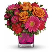bouquet delivery teleflora s turn up the pink bouquet in edison nj