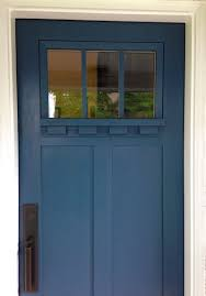 Teal Front Door by Provia Signet Entry Door In Enzian Blue With Dentil Shelf And