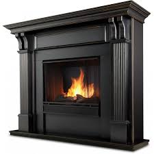Indoor Fireplace Fuel Real Flame Ashley 48 Inch Gel Fireplace With Mantel Blackwash