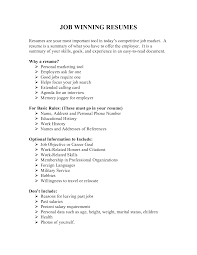 winning resume resume for your job application
