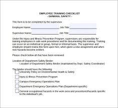 sample training checklist template training checklist template 5