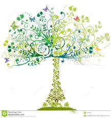 spring tree floral ornament royalty free stock photos image