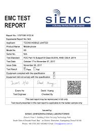 si e bureau k8 mobile phone test report tecno mobile limited