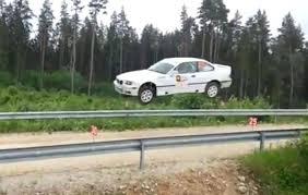 porsche rally car jump huge jumping of bmw car at viru rally 2014 youtube